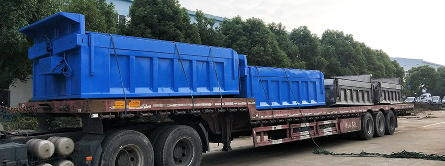 Superstructure of garbage tipper truck