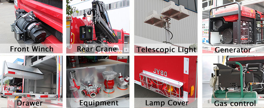 multifunctional rescue truck parts