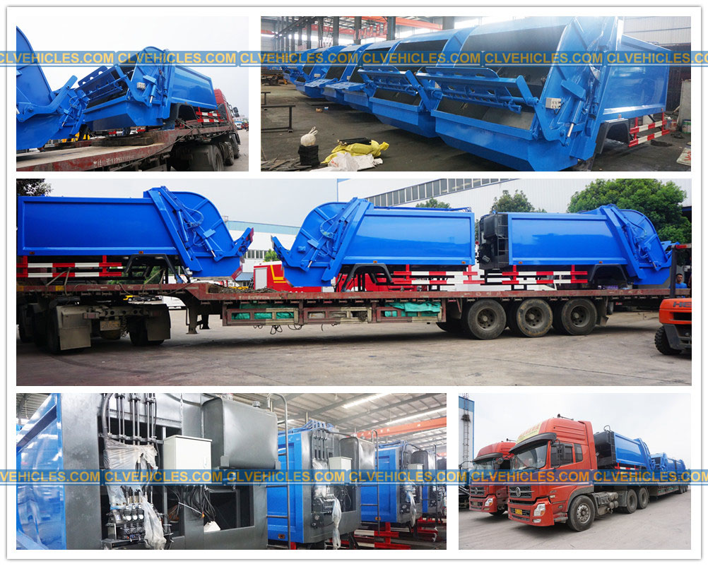 Superstructure of garbage compactor truck