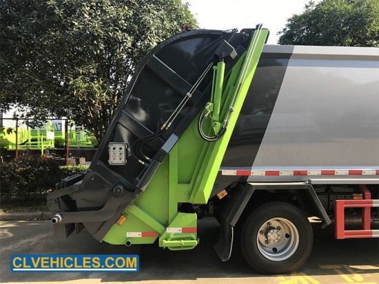 waste compactor truck