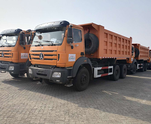 10 units Beiben Tipper truck ship to Cote d'Ivoire