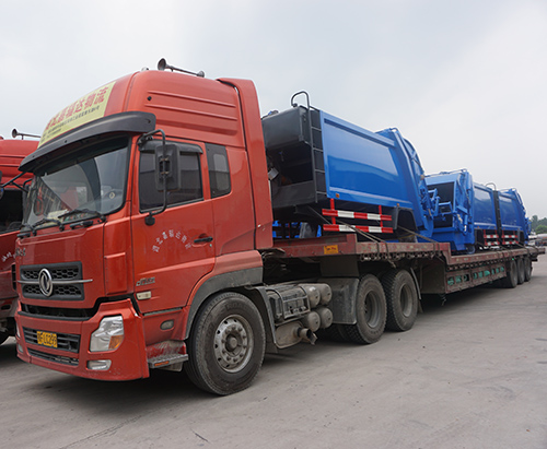 12 units Superstructure of garbage compactor truck ship to Bangladesh