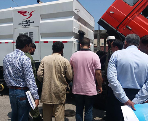 Runway Sweeper Truck On-site Training for Sialkot International Airport in Pakistan