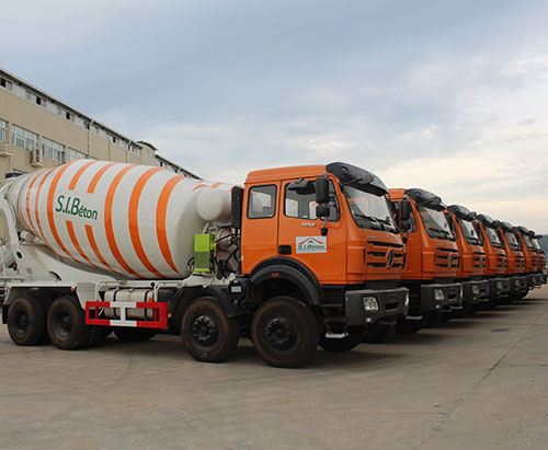 7 units Beiben 8*4 Concrete Mixer Truck Ship to Cote d'Ivoire in July