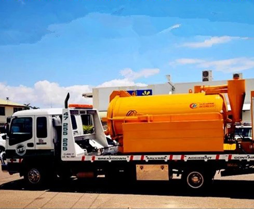 Vacuum tank truck arrived in Townsville, Australia