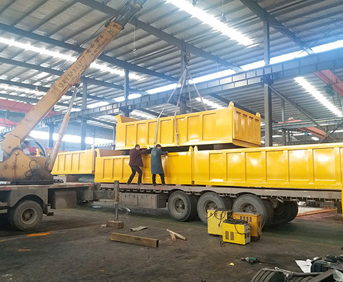 80 units Superstructure of garbage tipper truck ship to Bangladesh